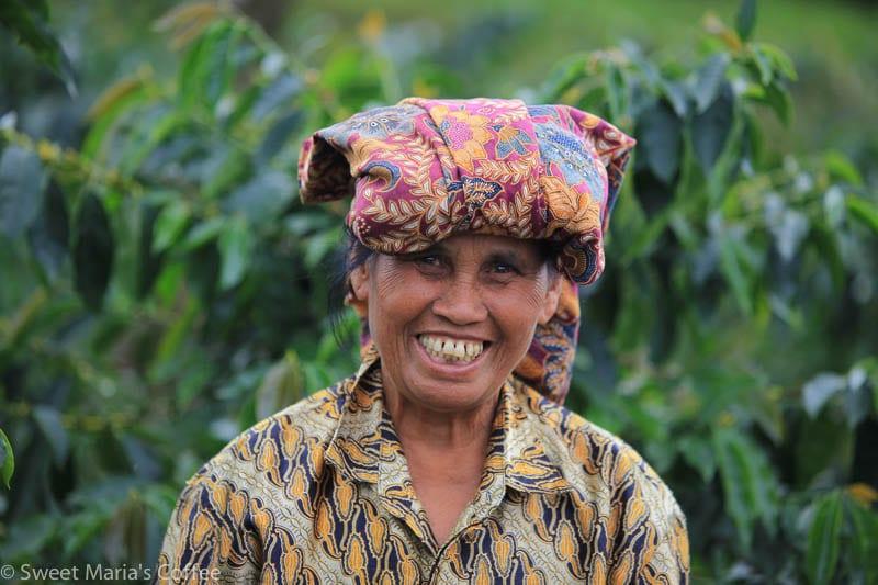 Opung Michael, a Sumatran coffee farmer in the Lake Toba area of Northern Sumatra
