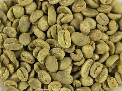 green coffee macro image bean