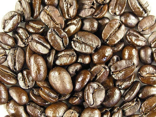 Extremely Dark - 486 degrees F - Coffee bean macro image during roasting