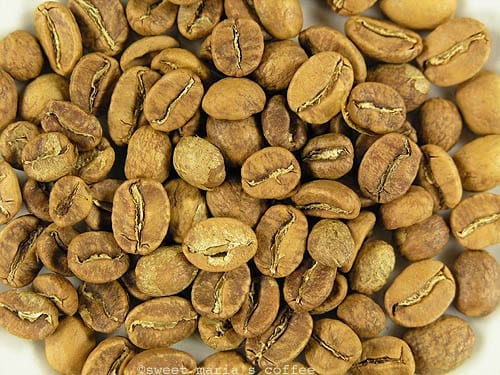 370 degrees F - Coffee bean macro image browning stage of roasting