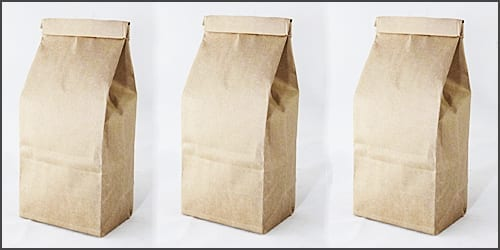 Eco friendly paper coffee bags for roasted coffee