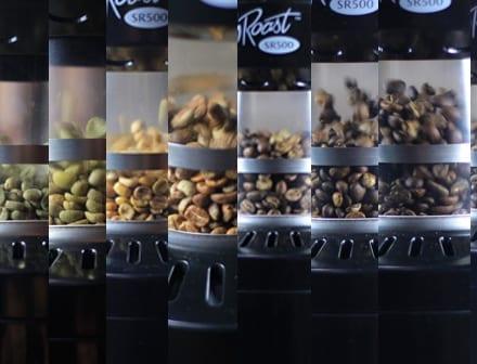 Coffee roasting process in the Freshroast SR500 home coffee roaster