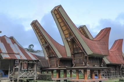 Toraja Sulawesi Indonesia Tongkonan House