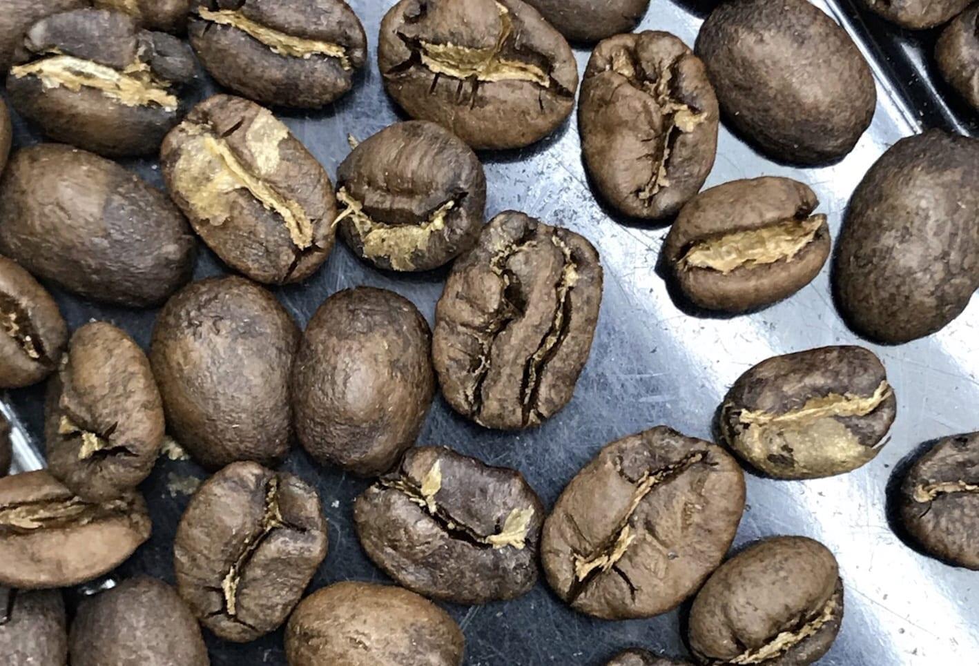 Roasted coffee sample from Okoro area