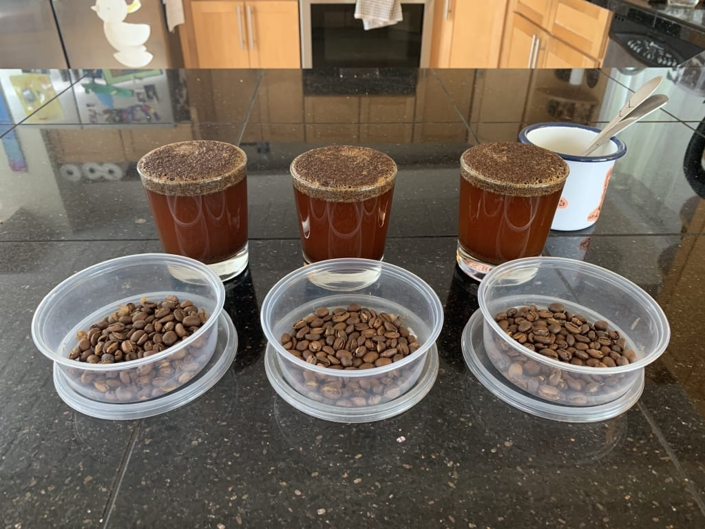 Not a lot of visible differences on the cupping table
