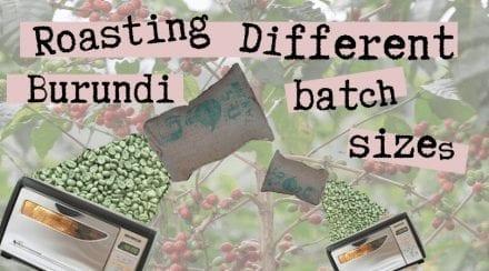 Roasting Different Batch Sizes of Burundi on the Behmor 1600+