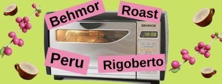 Behmor Espresso Roast Profile: Peru FTO Don Rigoberto