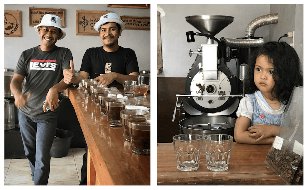 Lereng Coffee Home Roastery (and coffee processing station, in the backyard), Bebesen, Aceh Tengah