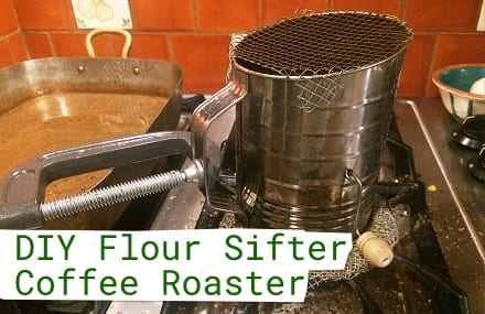 David Almond's DIY Flour Sifter Coffee Roaster