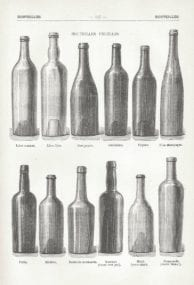 Winey wine bottles