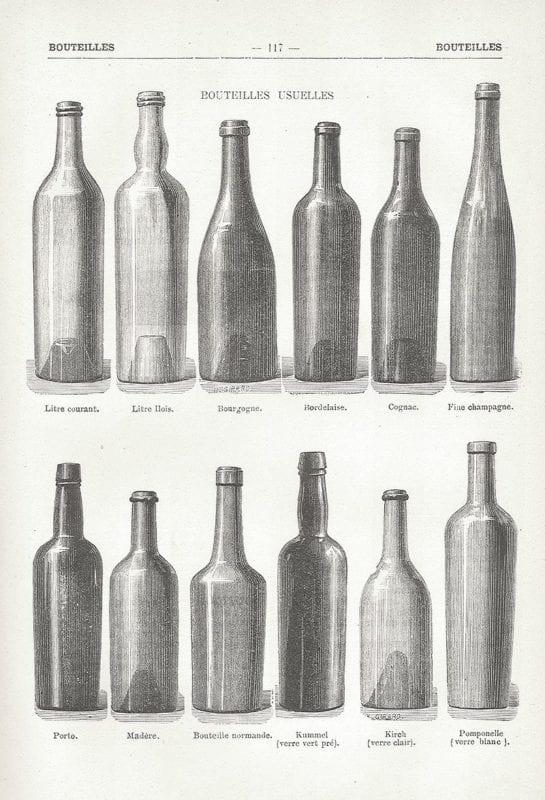 Winey wine bottles