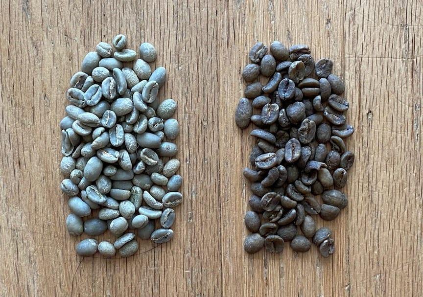 green versus decaf green coffee