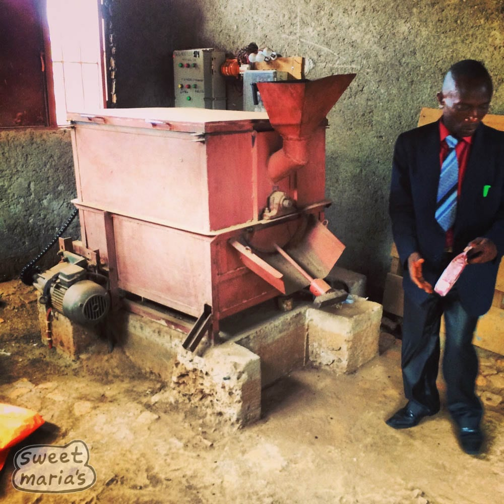 A local home made coffee roaster in Congo.