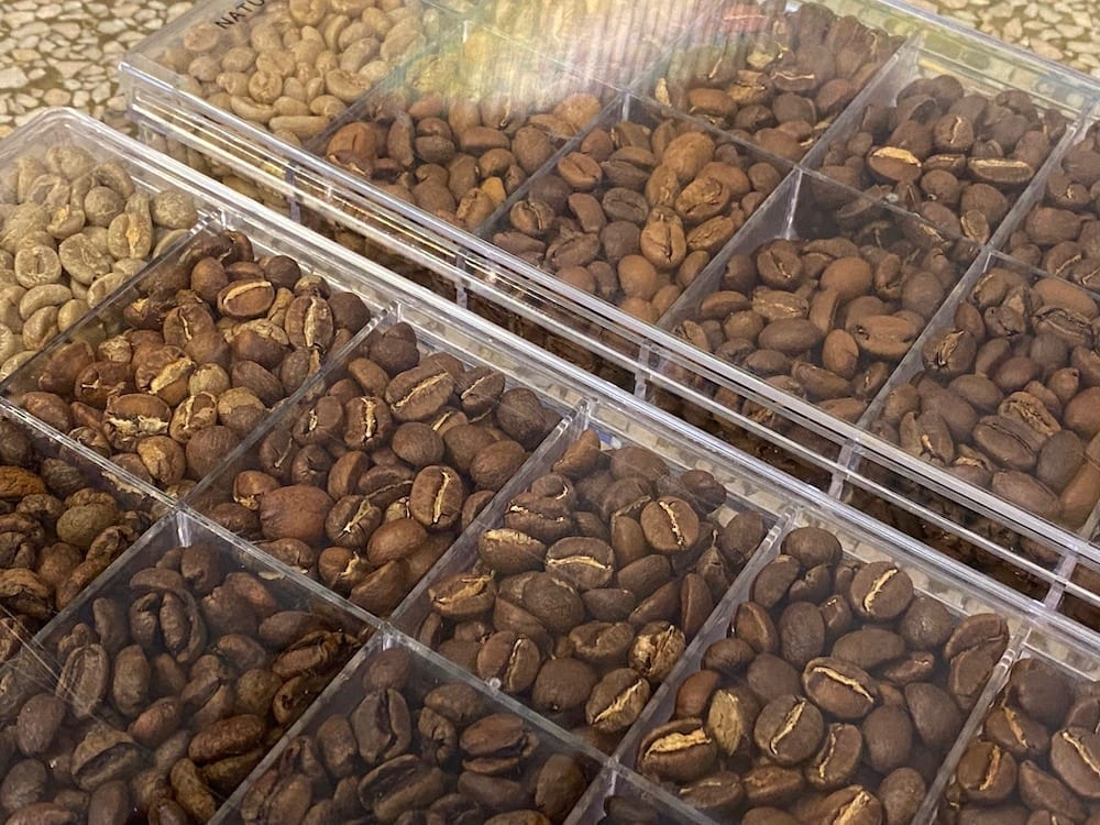 Degree of Roast Set for Coffee Beans