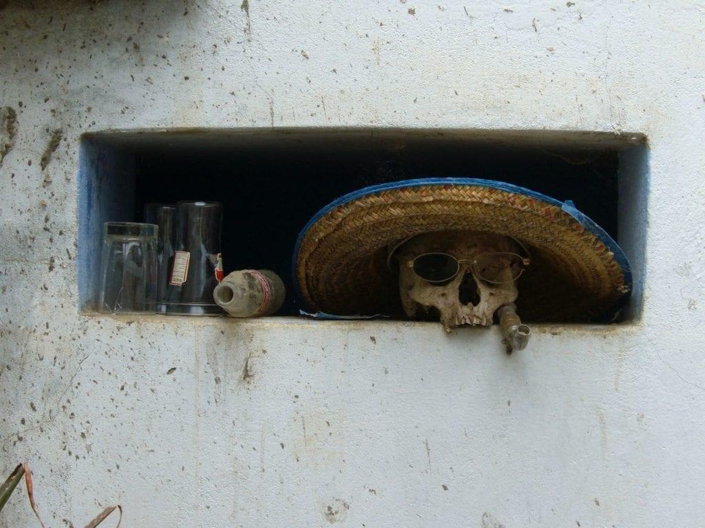 skull at capay coop in peru