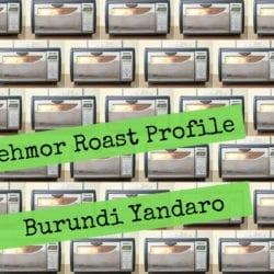 Behmor 1600 Roast Profile -Burundi Coffee