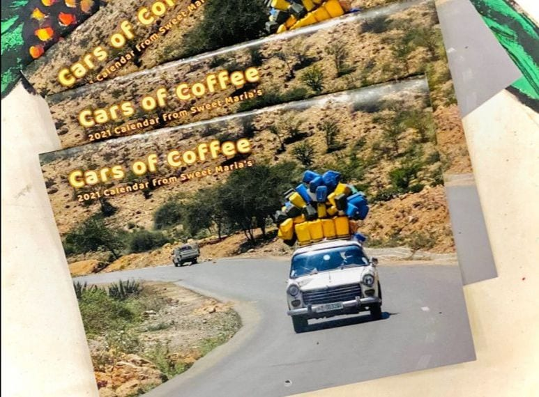cars of coffee calendar