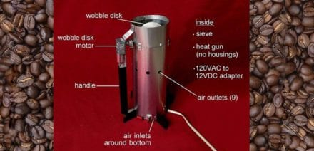 All-In-One Wobble Disk DIY Coffee Roaster