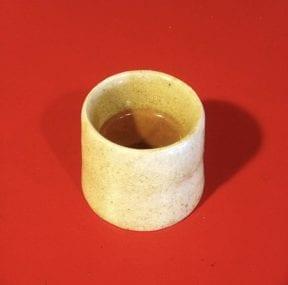 ceramic demitasse with a ristretto espresso shot