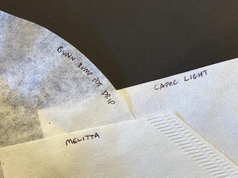 Cafec, Melitta and Bunn auto drip filters compared
