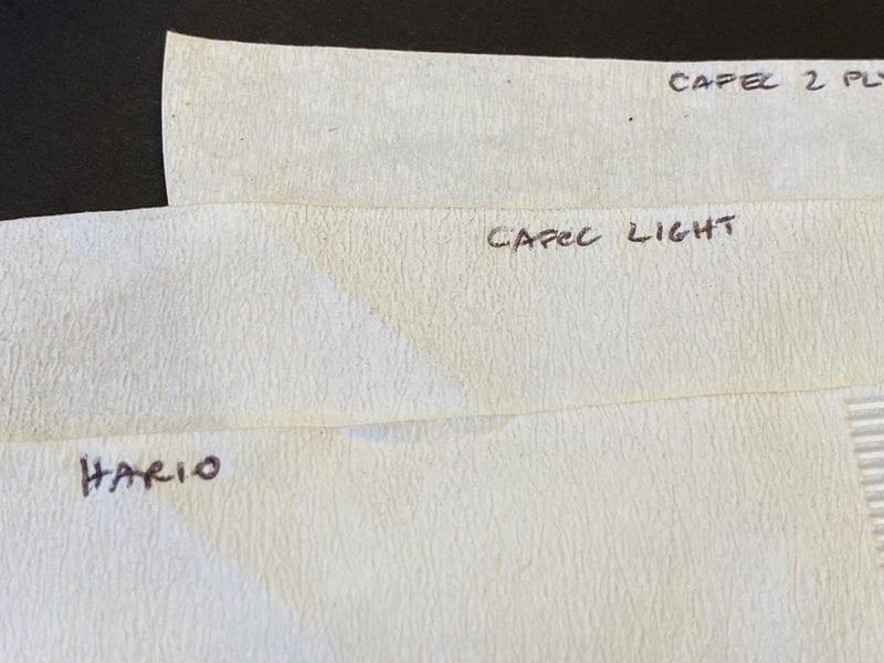 Cafec coffee filters versus Hario