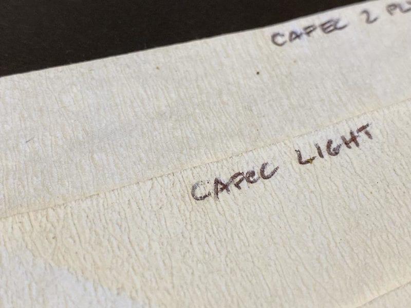 Cafec coffee filters - surface texture of Light versus Dark version