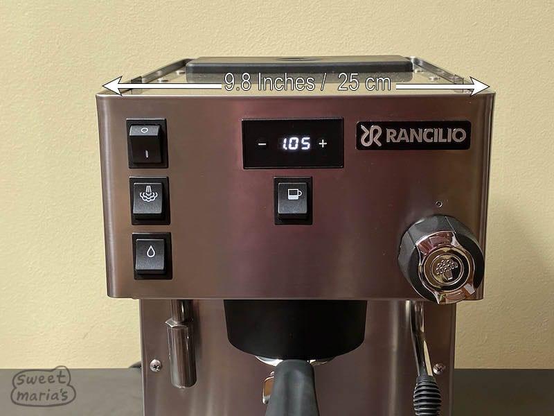 Rancilio Silvia Pro Top controls, and width