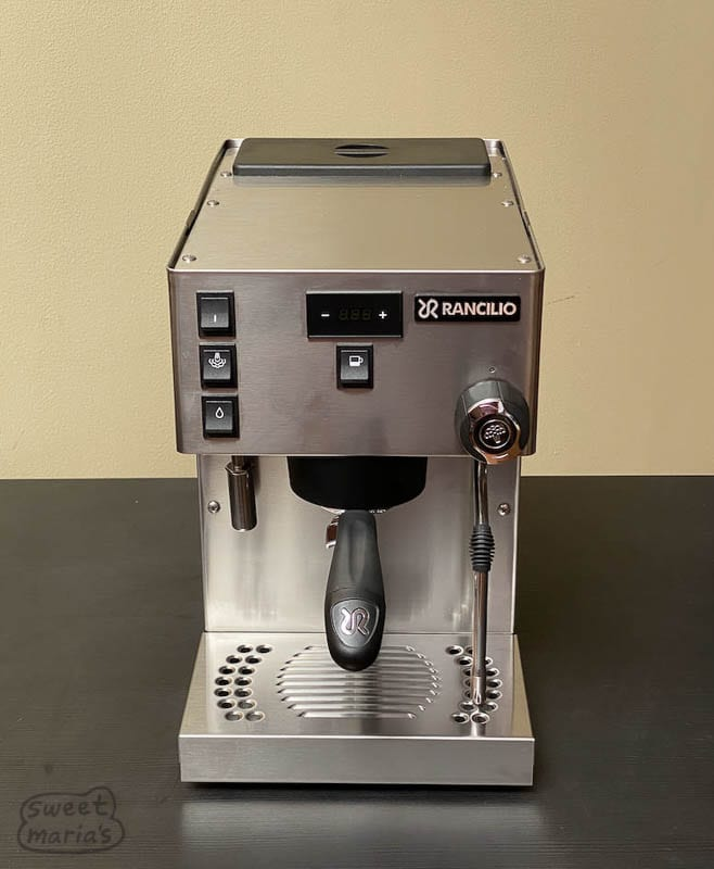 Rancilio Silvia Pro Sweet Marias front view from top