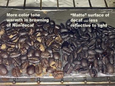 Roasting Decaf versus non-decaf