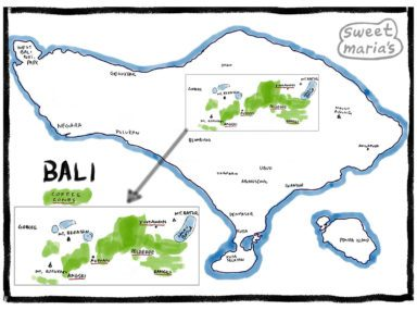 Bali Coffee Map Detail Sweet Marias