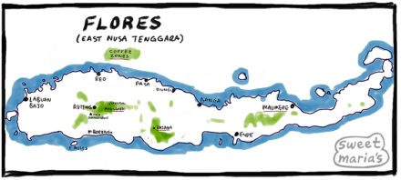 Flores Coffee Map Sweet Marias