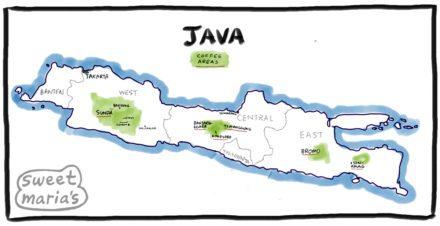 Java Coffee Map Indonesia Sweet Marias