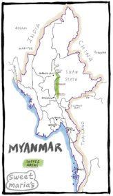 Myanmar Coffee Map Sweet Marias