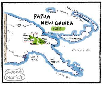 Papua New Guinea Coffee Map Sweet Marias