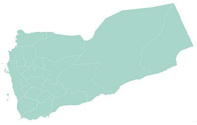 Yemen map outline