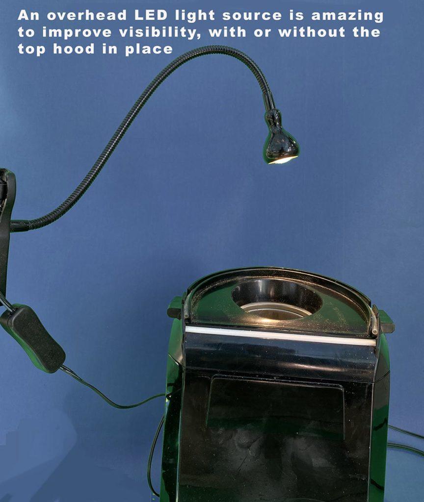 Overhead light source - Popper coffee roaster