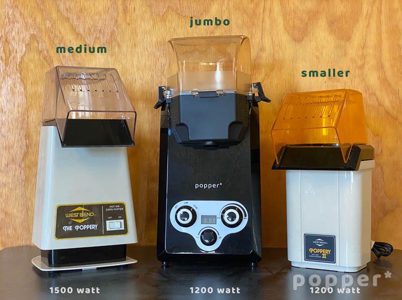 Poppery Vs Popper home coffee roaster